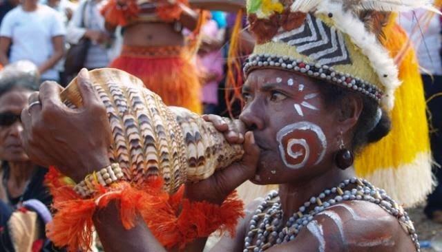 alat musik tradisional dari Papua